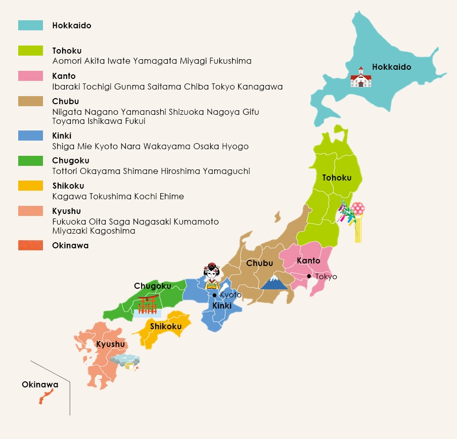 Map of Japan Japan Explorer