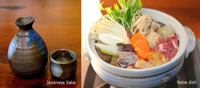 How to keep yourself warm in the cold winter in Japan - Nabe & Sake