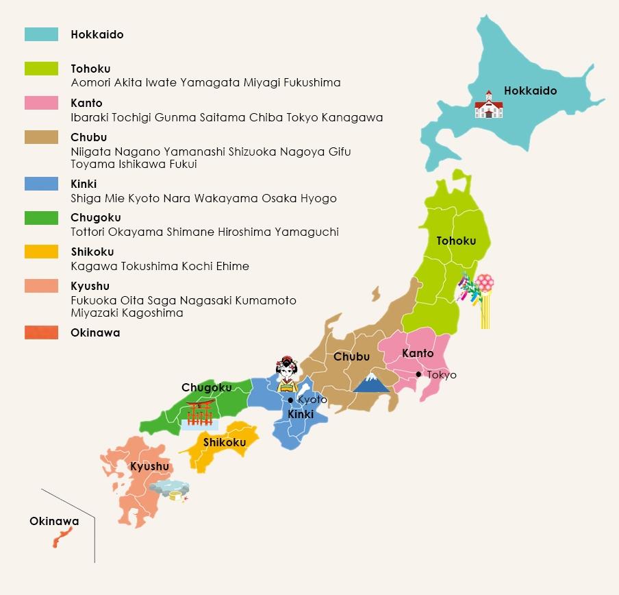 Map of Japan - Japan travel expert