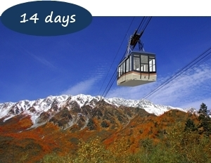 Japan Autumn Leaves Holiday Packages - Autumn Leaves Tateyama Kurobe Alpine Route 14 days