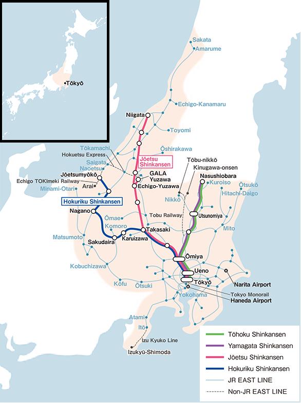 JR East Pass Valid Train Route Maps