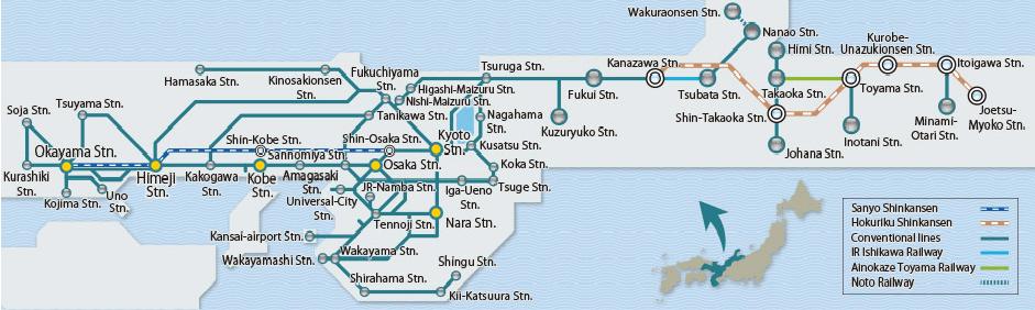 kansai-hokuriku-area-pass-route-map