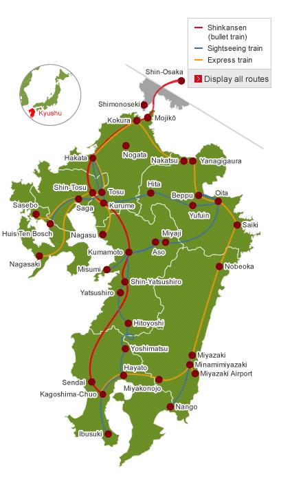 kyushu-route-map